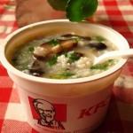 火腿香菇粥(挑战肯德基早餐)