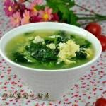 菠菜鸡蛋汤(减肥素菜)