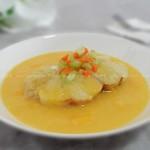 芒果椰浆清蒸银鳕鱼(海鲜家常菜)