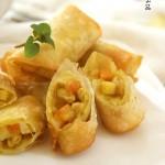 脆皮咖喱猪肉卷(荤素搭配-来自东南亚的魔幻美食)