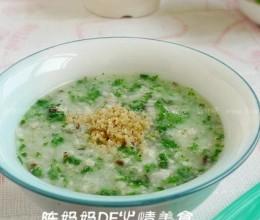 肉末青菜面絮汤