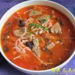 番茄猪肝汤(如何快速的去除番茄皮)