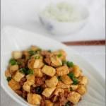 肉末炒豆腐丁(荤素搭配)