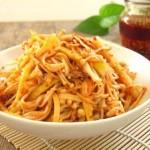 红油笋丝金针菇(自制香辣红油)