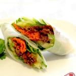 烤肉蔬菜卷(荤素搭配)