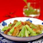 油条炒丝瓜(素菜)
