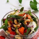 苣荬菜腰果沙拉(清热解毒的野菜)