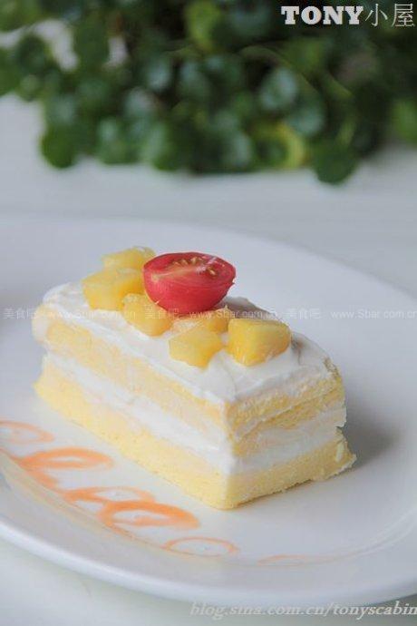冰镇蒸蛋糕