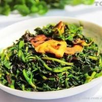 榄菜炒豆苗