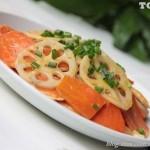 香干炒胡萝卜藕片(素菜)