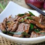 青蒜炒豬肝(葷菜)