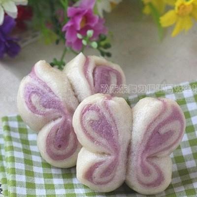 紫薯双色蝴蝶卷