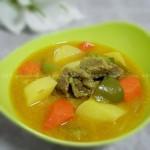 橙香椰汁咖喱牛腩饭(荤菜)