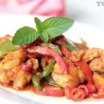 香辣干锅牛蛙(荤菜-养颜排毒)