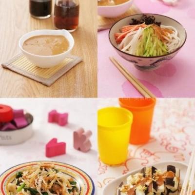 蔬菜 图解/蔬菜拌凉面、拌芝麻茄子、拌金针菇鸡丝(夏天的万能酱汁)