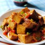 蚝油豆腐(素菜)