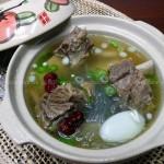 韩式牛骨汤(荤菜)