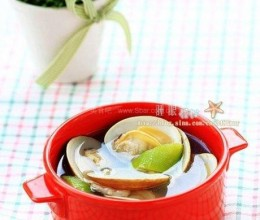丝瓜文蛤汤