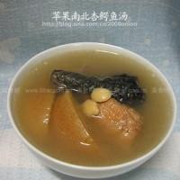 蘋果南北杏煲鱷魚肉和鱷魚肉二陳湯