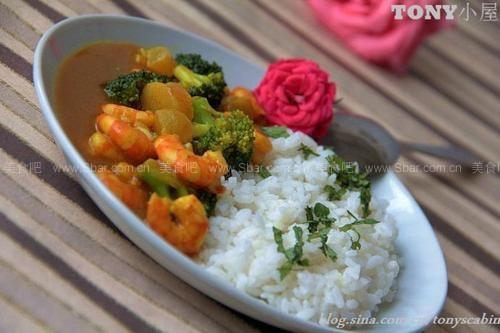 咖喱海鲜饭(早餐菜谱)