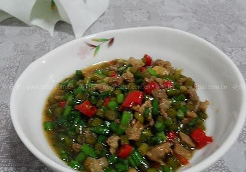 酸辣蒜苔肉丁酱(拌面酱料)