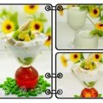 奇异果奶昔和饼干水果酸奶杯(夏日甜品)