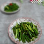 酱香蒜苔(素菜)