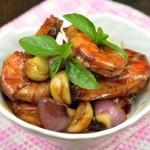 台湾三杯虾(海鲜家常菜)