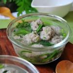 茼蒿面条鱼丸汤(荤菜)