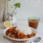 时蔬红烩牛肉(荤菜)