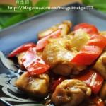柿子椒生炒鸡腿肉(荤菜)