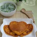 南瓜蛋饼和骨汤菠菜粥(既省时又营养的早餐)
