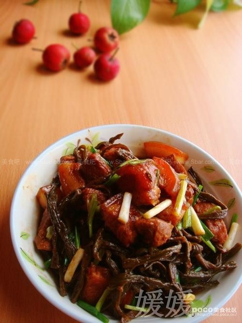 干豆角炖红烧肉