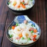 豌豆虾仁炒饭(早餐菜谱)