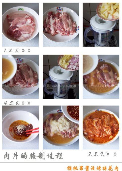 樱桃果酱浸烤梅花肉
