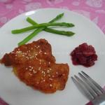 樱桃果酱浸烤梅花肉(烤箱菜谱)
