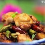 辣椒豇豆吵兔肉(荤菜菜谱-美容减肥)