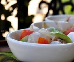 百合肉片炒荔枝