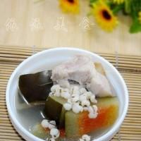 西瓜皮生熟薏米猪踭汤