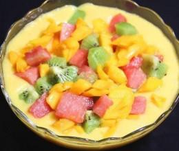 芒果椰汁杂果露