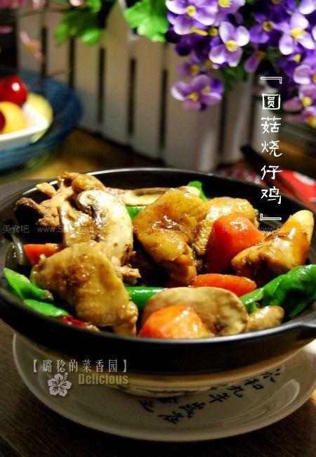 双孢菇烧仔鸡