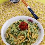 凉拌剁椒芥末蛋皮黄瓜丝(凉拌菜谱)