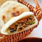 青椒碎米肉夹馍(早餐菜谱)