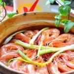 干锅基围虾(海鲜菜谱)