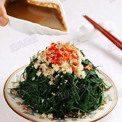 凉拌黄须菜