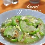 香葱虾米烩丝瓜(素菜菜谱)
