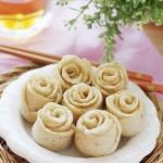 玫瑰豆渣小花卷(早餐菜谱)