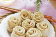 玫瑰豆渣小花卷