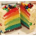 彩虹蛋糕(生日菜谱)