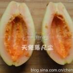 橙汁木瓜(水果菜谱)
